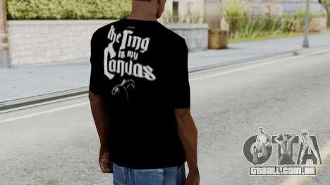 Jeff Hardy Shirt v3 para GTA San Andreas terceira tela