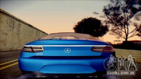 Mercedes-Benz S Coupe Vossen cv5 2014 para GTA San Andreas vista direita