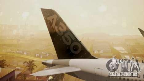 Airbus 350-900XWB Around The World para GTA San Andreas traseira esquerda vista