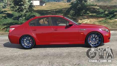 GTA 5 BMW M5 (E60) 2006 vista lateral esquerda