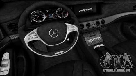 Mercedes-Benz W222 S63 AMG para GTA San Andreas vista direita