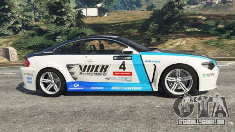 GTA 5 BMW M6 (E63) WideBody v0.1 [Volk Racing Wheel] vista lateral esquerda