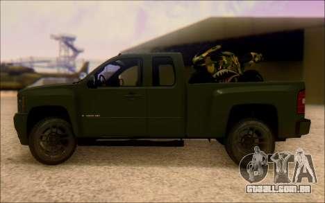 Chevrolet Silverado 2500 Best Edition para GTA San Andreas esquerda vista