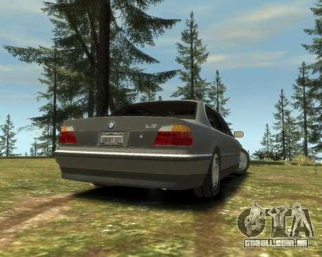 BMW L7 (750IL E38) 2001 para GTA 4 esquerda vista