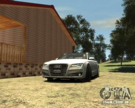 Audi A8L W12 2013 para GTA 4 traseira esquerda vista
