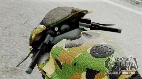 Bati Motorcycle Camo Shark Mouth Edition para GTA San Andreas vista traseira