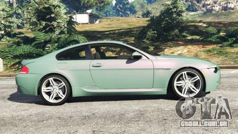 GTA 5 BMW M6 (E63) Tunable vista lateral esquerda