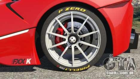 GTA 5 Ferrari FXX-K 2015 traseira direita vista lateral