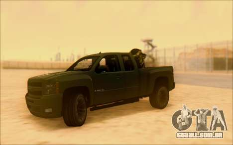 Chevrolet Silverado 2500 Best Edition para GTA San Andreas vista interior