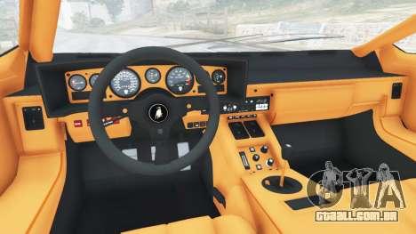 GTA 5 Lamborghini Countach LP500 QV 1988 v1.2 traseira direita vista lateral