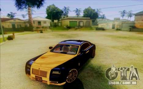 Rolls-Royce Ghost Mansory para GTA San Andreas esquerda vista