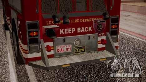 GTA 5 MTL Firetruck IVF para GTA San Andreas vista inferior