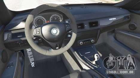 GTA 5 BMW M3 GTS traseira direita vista lateral