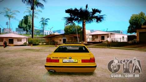 BMW 525tds E34 Russian Taxi para GTA San Andreas traseira esquerda vista