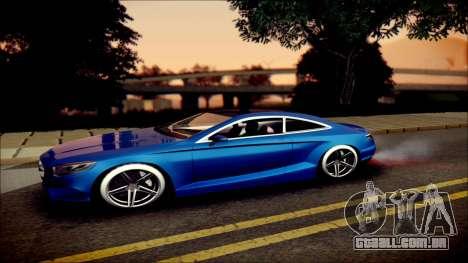 Mercedes-Benz S Coupe Vossen cv5 2014 para GTA San Andreas esquerda vista