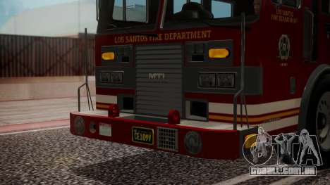 GTA 5 MTL Firetruck IVF para vista lateral GTA San Andreas