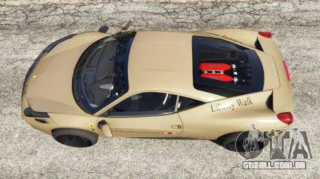 Ferrari 458 Italia 2009 Liberty Walk para GTA 5