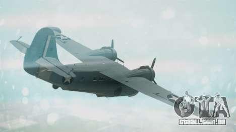 Grumman G-21 Goose Military para GTA San Andreas esquerda vista