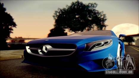 Mercedes-Benz S Coupe Vossen cv5 2014 para GTA San Andreas vista traseira