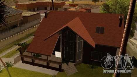 New Ryder House para GTA San Andreas por diante tela
