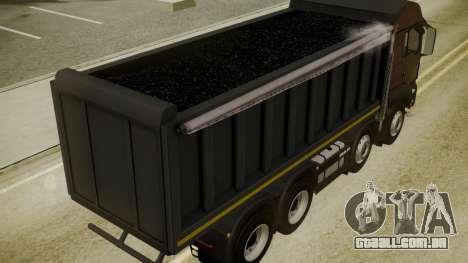 MAN TGS 8x4 Dumper para GTA San Andreas vista traseira
