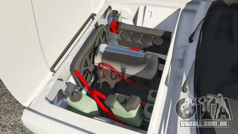 GTA 5 VAZ-2107 Redline 61 traseira direita vista lateral