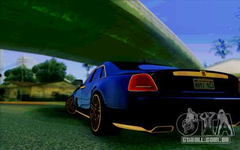 Rolls-Royce Ghost Mansory para GTA San Andreas vista direita