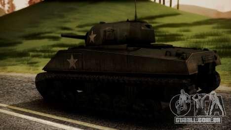 M4A3 Sherman para GTA San Andreas esquerda vista