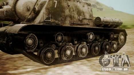 ISU-152 Snow from World of Tanks para GTA San Andreas traseira esquerda vista