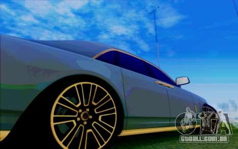 Rolls-Royce Ghost Mansory para GTA San Andreas vista inferior