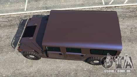 GTA 5 Hummer H1 v2.0 voltar vista