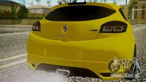Renault Megane RS para GTA San Andreas vista traseira