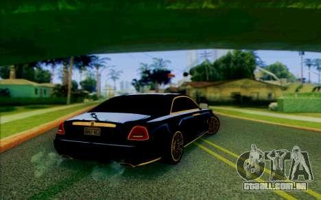 Rolls-Royce Ghost Mansory para GTA San Andreas traseira esquerda vista