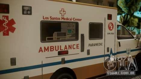 GTA 5 Brute Ambulance IVF para GTA San Andreas vista direita