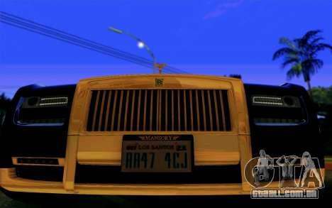Rolls-Royce Ghost Mansory para GTA San Andreas vista traseira