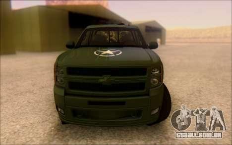 Chevrolet Silverado 2500 Best Edition para GTA San Andreas vista traseira
