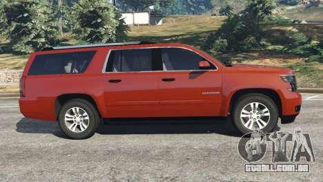 Chevrolet Suburban 2015 para GTA 5