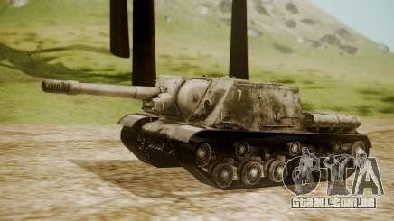 ISU-152 Snow from World of Tanks para GTA San Andreas