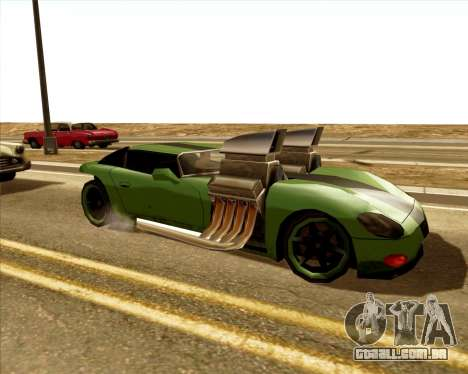 Banshee Twin Mill III Hot Wheels para GTA San Andreas esquerda vista