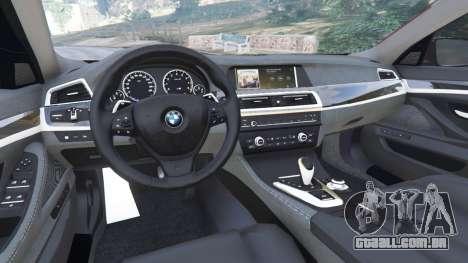 GTA 5 BMW 535i 2012 traseira direita vista lateral