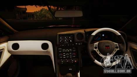 Nissan GT-R Nismo 2015 Itasha Paintjobs para GTA San Andreas vista interior