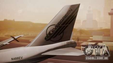 Boeing 747-200 Evergreen International Airlines para GTA San Andreas traseira esquerda vista