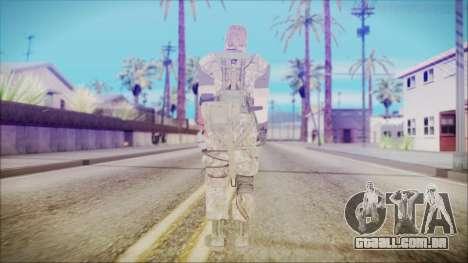 MGSV Phantom Pain Snake Normal Woodland para GTA San Andreas terceira tela
