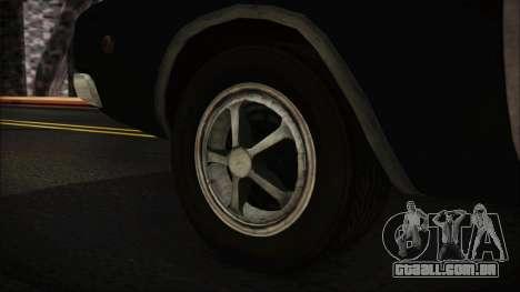 Police Car R.P.D. from RE 3 Nemesis para GTA San Andreas traseira esquerda vista