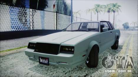 GTA 5 Willard Faction para GTA San Andreas traseira esquerda vista