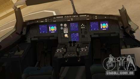 Airbus A330-300 American Airlines para GTA San Andreas vista traseira