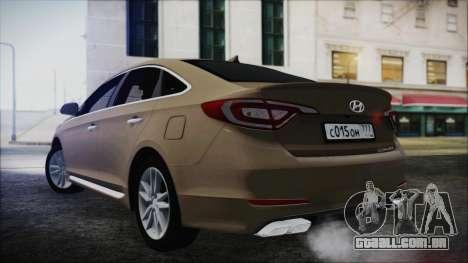Hyundai Sonata 2015 para GTA San Andreas esquerda vista