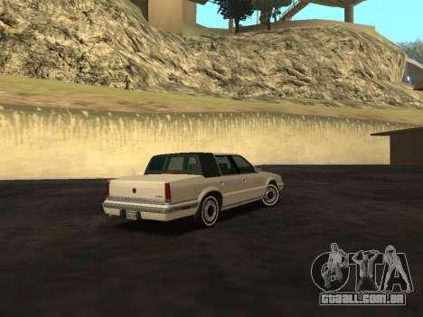 Chrysler New Yorker 1988 para GTA San Andreas vista traseira