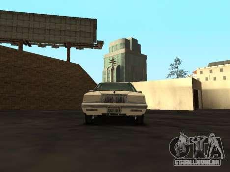 Chrysler New Yorker 1988 para GTA San Andreas vista interior