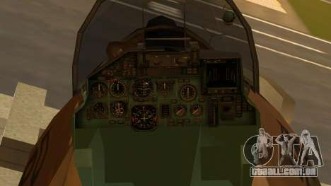 SU-27 Flanker A Philippine Air Force para GTA San Andreas vista direita